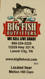 Big Fish Outfitters Business Card