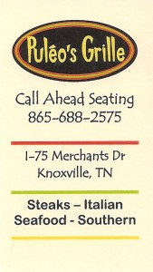 Puleo's Grill Business Card