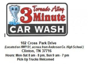 Tornado Alley Car Wash Business Card