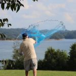 Cast net throwing